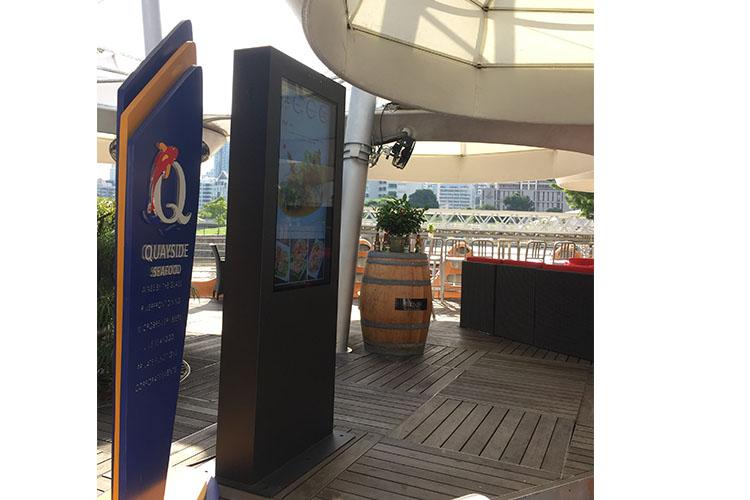 Portable outdoor digital signage