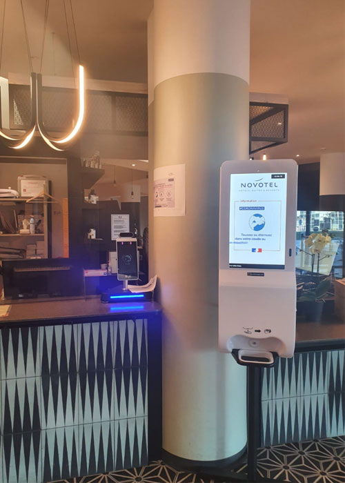 Hand Sanitizer Digital Display in Novotel Hotel