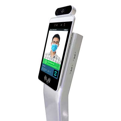 face recognition remperature kiosk with floor standing display yxd-f8