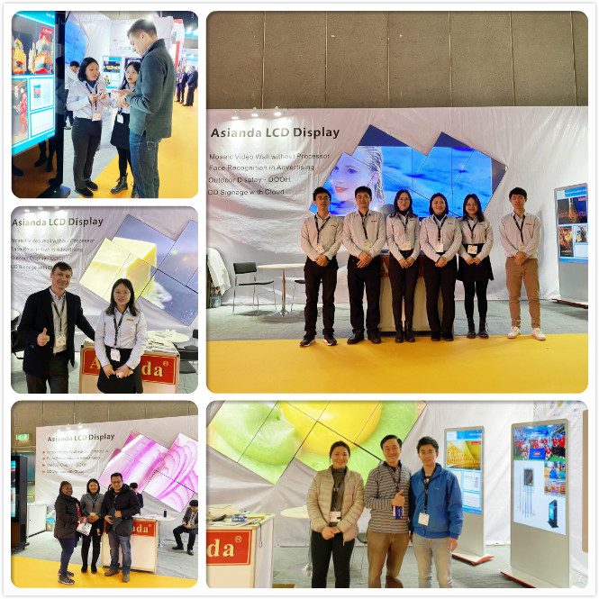 asianda attend ISE commercial display exhibition