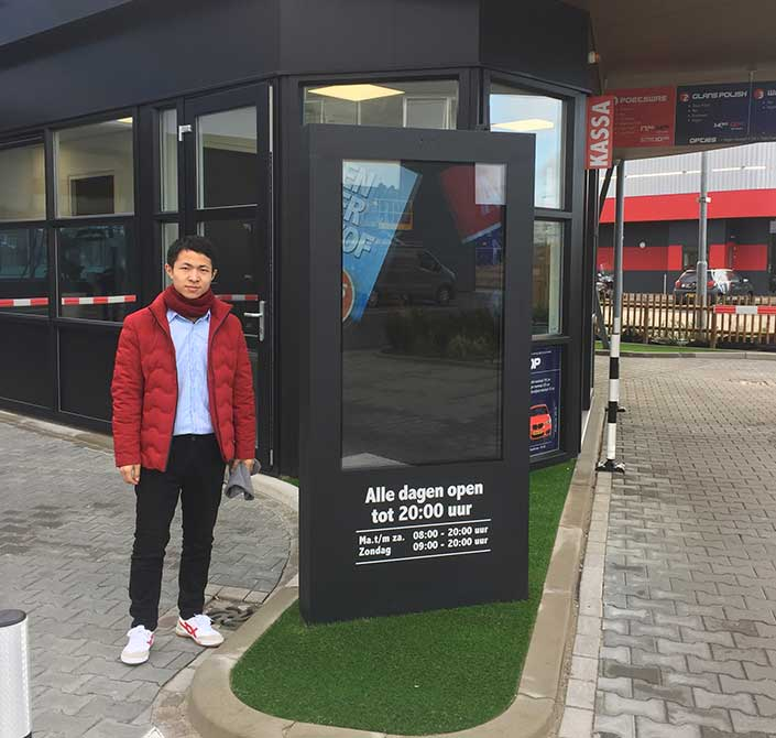 outdoor digital signage for auto car washing in Netherlands
