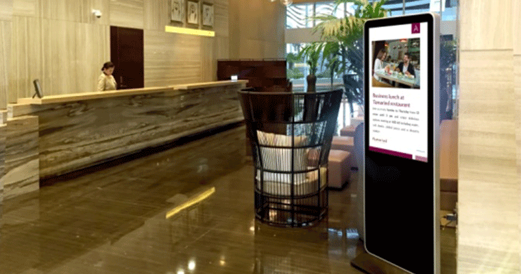 Smart Hospitality Solution information advertising display
