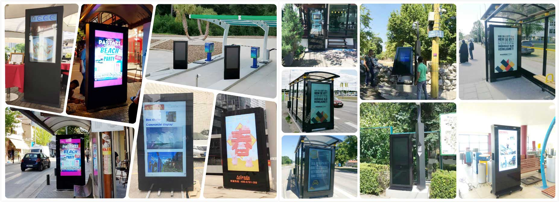 outdoor digital signage kiosk display