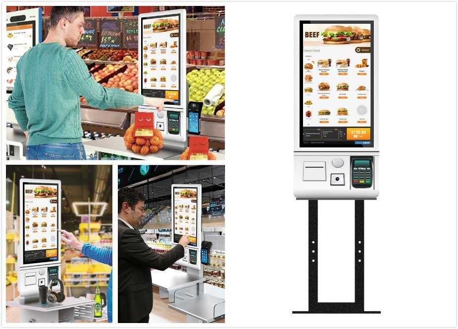 self service payment kiosk display