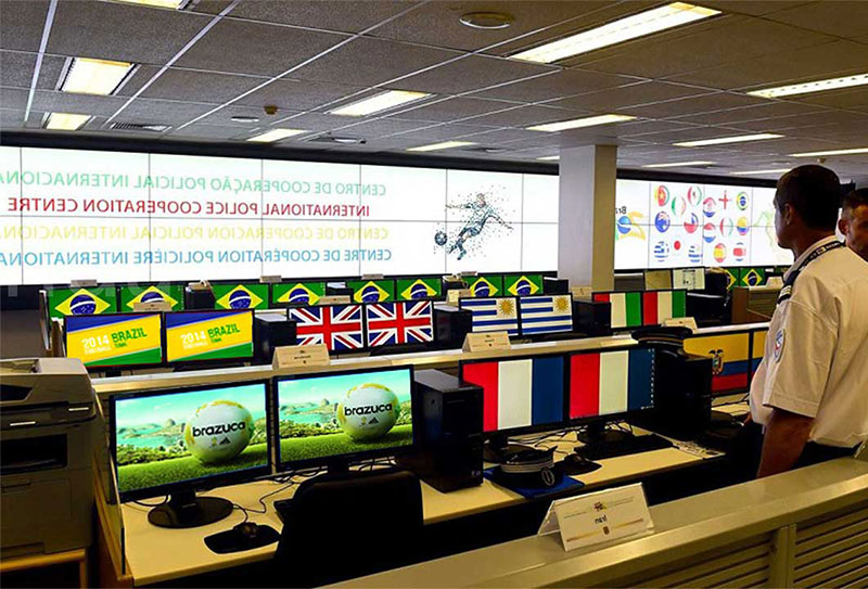 video wall for Brazil police station