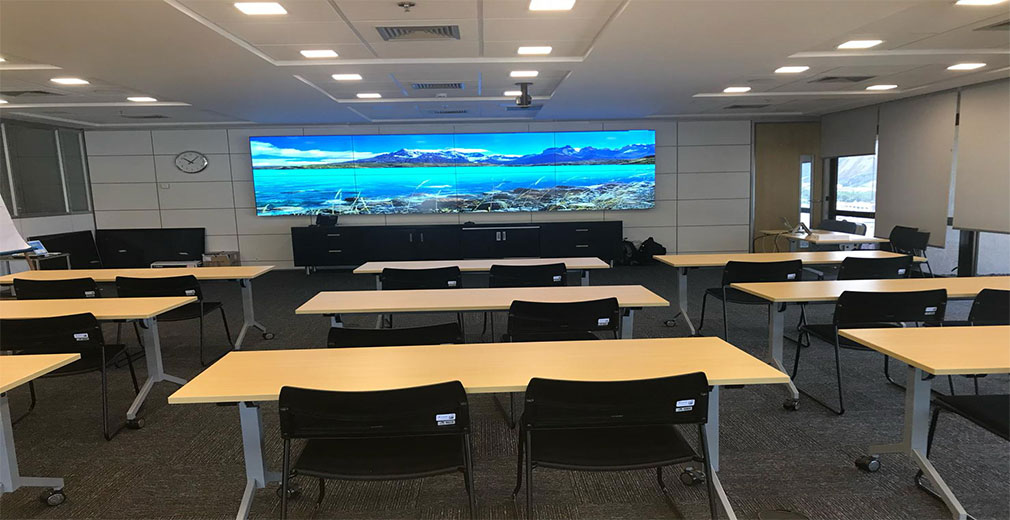 Class company office video wall