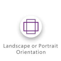 landscape or portait orientation