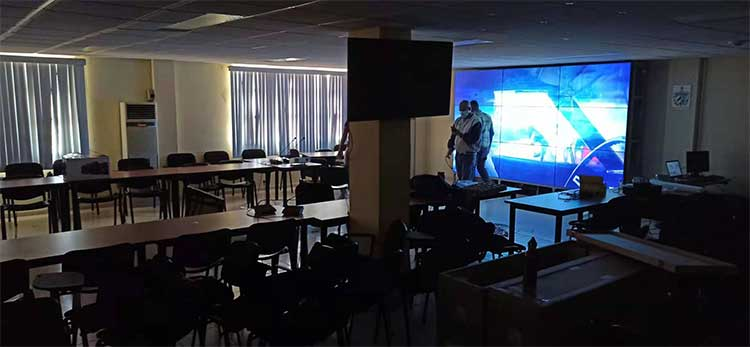 3x3 lcd video wall display conference office in Cuba big screen