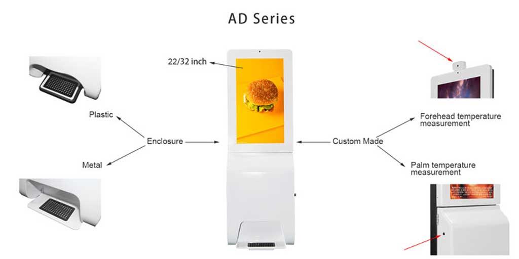 digital hand sanitizer kiosk