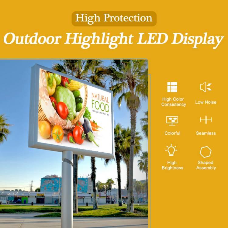 Outdoor digital led signage