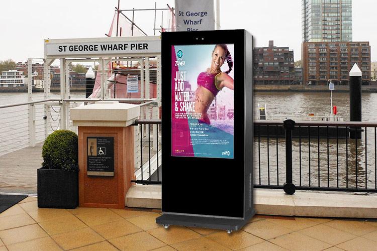 outdoor advertising kiosk