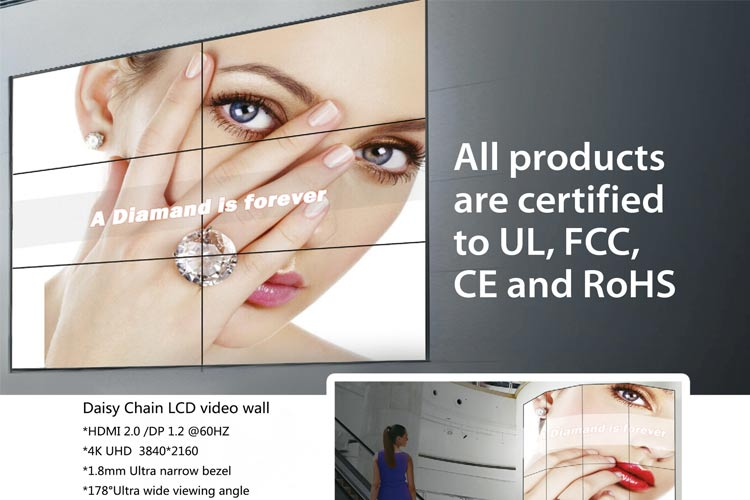 4k Video Wall with UL certificate