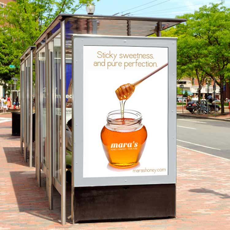 Advertising content is simple and innovative