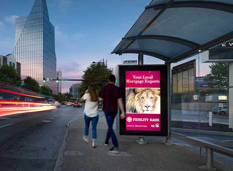 Why is outdoor advertising screen an effective access channel for display advertising