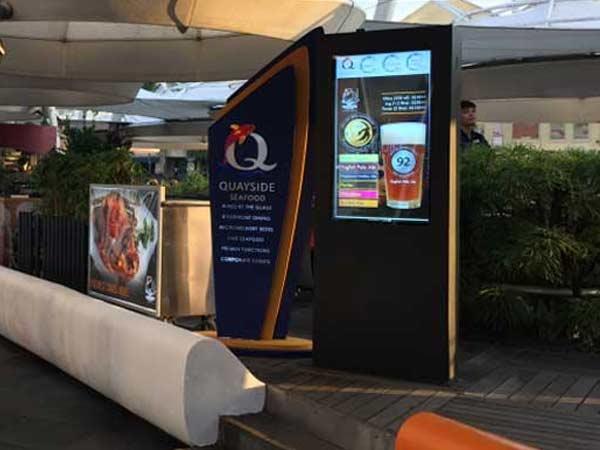 outdoor digital display in Singapore sea food