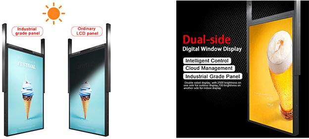 semi-outdoor digital window display