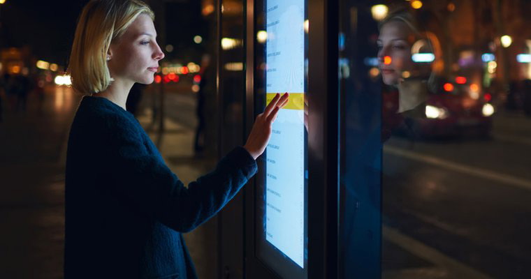 touch screen outdoor digital signage