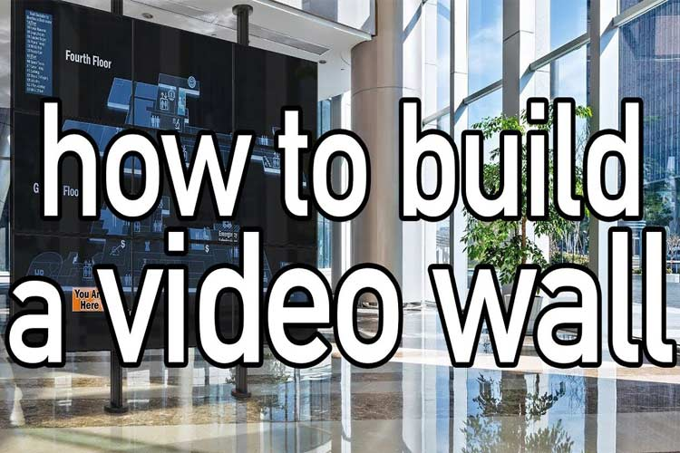 Use four flat video wall panel displays to create mobile video walls