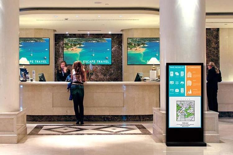Smart Hospitality digital signage display solutions