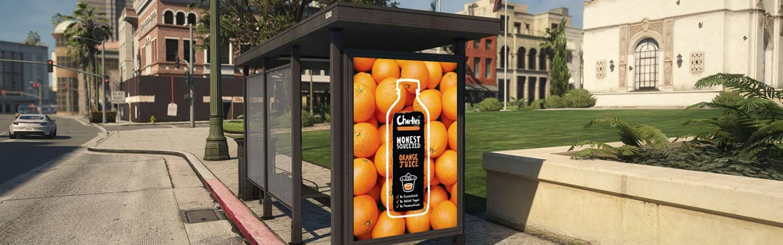 75 outdoor bus station advertising digital signage project in Switzerland