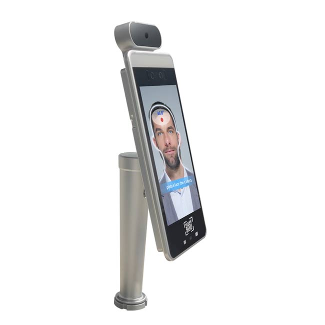 face recognition temperature kiosk