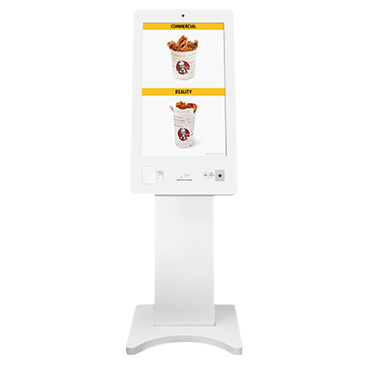32inch LCD touch screen interactive kiosk as payment kiosk