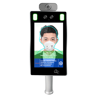 8 inch Face Recognition Temperature Measurement with Touch Screen on eface system