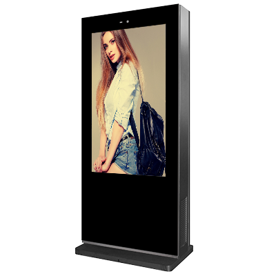 75inch outdoor Floor standing double sides digital signage
