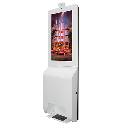 YXD22L-AD2E sanitizer kiosk with face recognition and temperature measurement