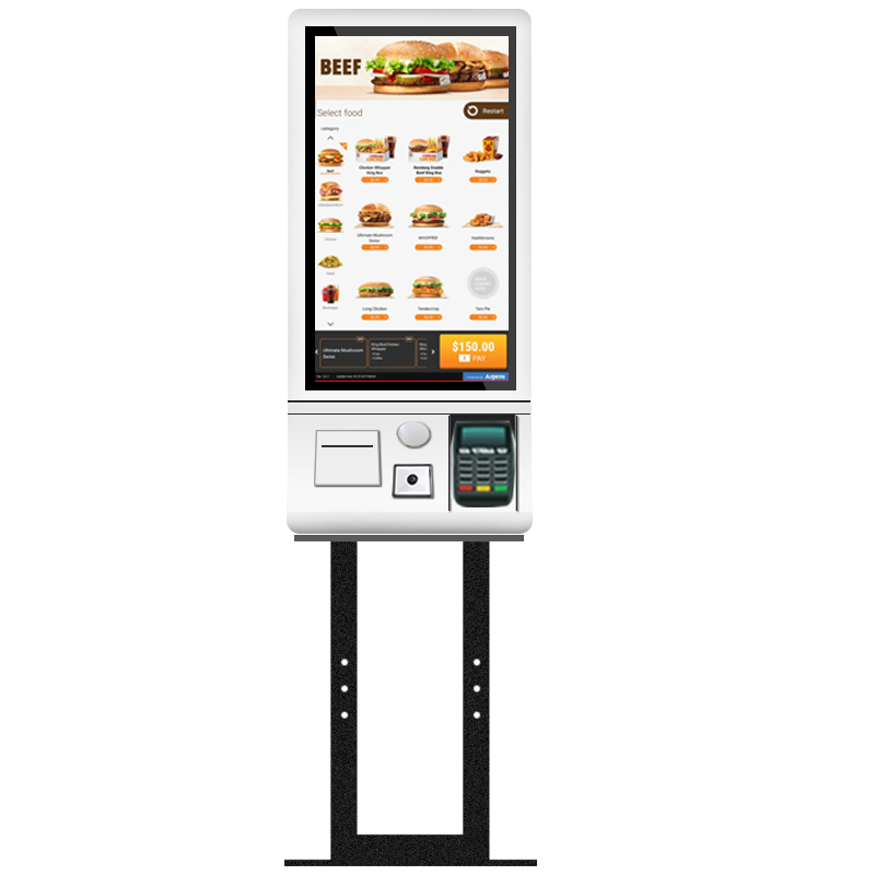 24inch Floor-standing Resturant Self-ordering Payment Kiosk