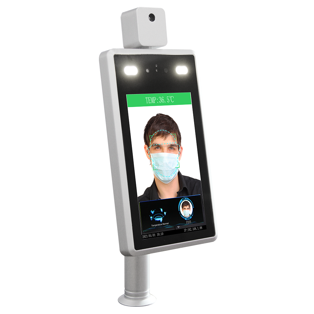 7 Inch Smart Facial Recognition Temperature Scanner Kiosk
