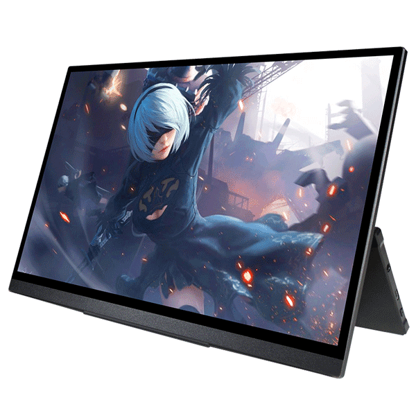 Ultra Slim Portable 15.6 Inch Touchscreen FHD Monitor with Battery Gaming Laptop