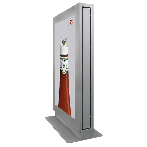 65 inch LED outdoor digital signage interactive touch totem kiosk /DOOH display