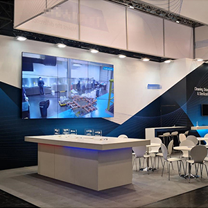 exhibition solutions on the video wall display