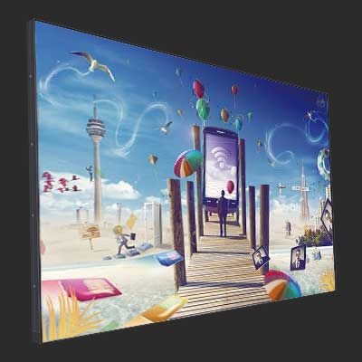 55 Inch wall mount ultra thin lcd commercial display screen