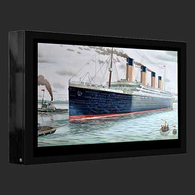 DOOH 55inch LCD outdoor wall mount digital signage commercial advertising player