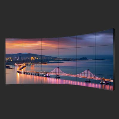 55 inch curved splicing video wall