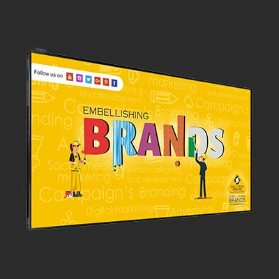 43inch Hanging High Brightness Digital Window Display