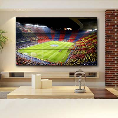 Residential Solutions video wall display to watch football game
